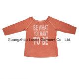 Blusa del diseño de la venta caliente del Knit de la muchacha clásica del telar jacquar