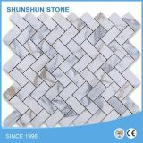 安い価格の中国の磨かれた連結のベージュ大理石のモザイク・タイル
