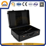 黒く大きいアルミニウム荷物のスーツケースのトロリー箱(HP-3205)