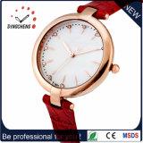 Weihnachtsgeschenk-Form-Edelstahl-Dame-Uhr