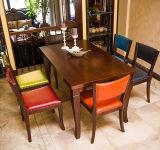 Antiqued 최신 인기 상품은 6명의 사람 식탁 및 의자를 새겼다