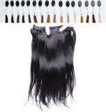 Stock Natural Wave Clipin Human Extensions Hair에서