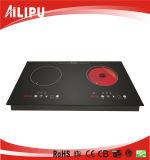 2015 cocina manual superior de la inducción de la estufa eléctrica de dos hornillas
