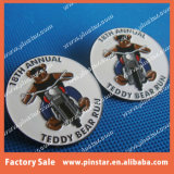 Fabrication directe d'usine de Pinstar autour de l'insigne fait sur commande de Pin de revers en métal d'émail d'ours d'équitation