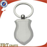 Fabricante de China de fábrica del llavero de metal Kirsite blanco promocional personalizado en granel