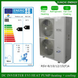 Evi Tech. -25c Winter 100 ~ 320sq Meter House Floor Heating 12kw / 19kw / 35kw Auto-Defrost High Cop Split sistemas de bombas de calor
