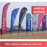 Bandierina di spiaggia promozionale esterna della via su ordinazione di alta qualità