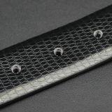 Cinghia di cuoio degli uomini spaccati della pelle bovina del Reversible di brevetto della cinghia della cinghia dell'inarcamento di Pin del reticolo del serpente di modo