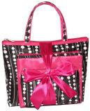 PVC-Spielraum-Toilettenartikel-Kosmetik-Beutel des rosafarbene nette Form-stilvollen Mädchens