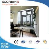 Het houten Openslaand raam van het Aluminium van de Korrel Open Binnen