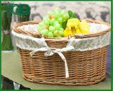 Wicker корзина руки для плодоовощ Shoppind и еды и вещества Strorage