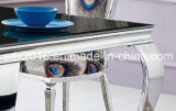 가정 가구를 위한 테이블 유리제 테이블이 4개의 다리에 의하여 대리석 무늬를 넣는다