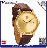 Do pulso de disparo cheio luxuoso novo do couro genuíno do tipo dos relógios dos homens Yxl-927 relógio de pulso ocasional masculino impermeável de quartzo