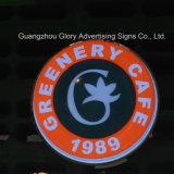 Publicidad del rectángulo ligero de acrílico de la visualización del café del LED