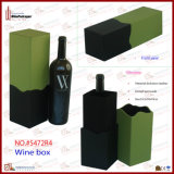 Boîte de empaquetage à vin de cadeau simple de bouteille (5693)