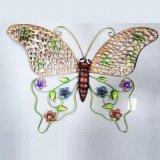 정원과 홈을%s 다채로운 빈 짜임새 금속 나비 훈장