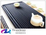 까만 돌 Shanxi 까만 화강암 순수한 수동 구조 간단한 실제적인 돌 차 세트