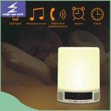 2016 enriquecer la lámpara de escritorio portable de la música caliente LED del producto con el altavoz de Bluetooth