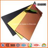 Painel composto de alumínio do espelho de bronze do tipo 1220*2440mm de Ideabond para a decoração interna e ao ar livre