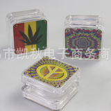 Broyeur en plastique acrylique de main de rectifieuse de tabac d'herbe de fumée