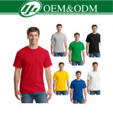 Camiseta de encargo del deporte/camiseta redonda del cuello/camiseta negra