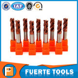 fraise en bout du fond plat 4flutes pour le fraisage de machine de 5 axes