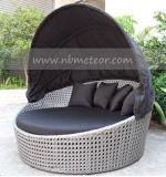 Mtc066藤の屋外のソファーベッドのラウンジの庭の寝台兼用の長椅子