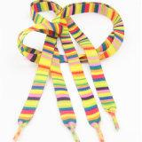 Lacets de chaussure colorés multi teints par plaine pour des chaussures de Louboution