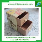 Anunció el rectángulo de almacenaje de empaquetado de papel reciclado impresión de lujo del rectángulo de la característica de los materiales con el cajón