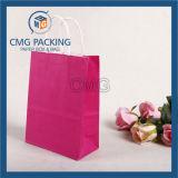 Varia bolsa de papel barata con la maneta de papel (DM-GPBB-095)