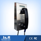 通路の電話、音量調節ボタンが付いている収容者の電話