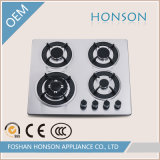 Gas Hob con 4 Burners e Stainless Steel Panel HS4517