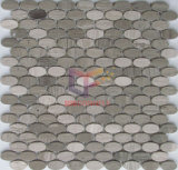 Овальной формы из натурального мрамора Каменная мозаика (CFS1083)