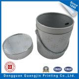 Nueva forma cilíndrica de la caja de regalo del papel de hoja de plata del diseño de la venta caliente