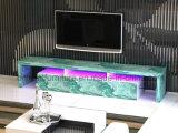 大理石の石造りのペーパーベニヤのホーム家具(BR-TV780M)が付いているLED TVの立場