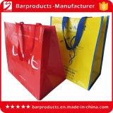 Kundenspezifische Drucken-waschbare aufbereitete pp. gesponnene Einkaufstasche