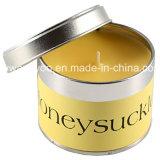 Bougies chaudes d'usager de bidon de vente pour la décoration avec le couvercle en métal