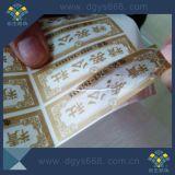 Fácil danificado uma etiqueta de papel/etiqueta do laser do uso do tempo