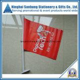 Förderung-Polyester-Handmarkierungsfahne mit Plastikpolen