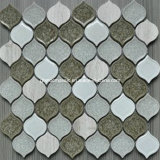 2016 ghiaccio Crackle Ceramic Mixed Glass Mosaic con Peach Shaped