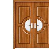 Porte en bois enduite de PVC de solide moderne stratifiée par placage de luxe