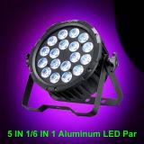 실내 알루미늄 15W Rgbaw 세척 고성능 LED PAR64