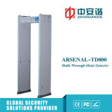 4 Detector van het Metaal van het Frame van de Deur van de Veiligheid van de Metro van het Alarm van streken de Dubbele Infrarode Correcte Lichte
