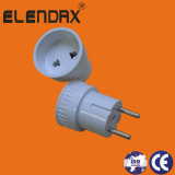 Adapter (van CEE7/7 of CEE7/17 aan EEG 7/16) 6A 250V