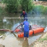 Bateau de dragage de mini or portatif/bateau de pompage d'or à vendre