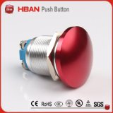 22mm 2A/36V Colorized Red Mushroom Momentary 1no Drukknop Switch met Screw Terminal