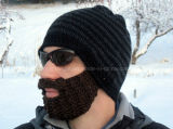 Unbelegtes Custom Knitted Warm Hat mit Ears u. Mouth Covers