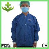Capa no tejida del laboratorio de los PP del fabricante de China con el botón