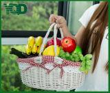 Пастырская покупка Wicker корзины и плодоовощ и вещество еды хранение