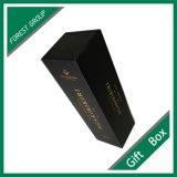 Boîte de cadeau pliable de stratification noire faite sur commande de Matt